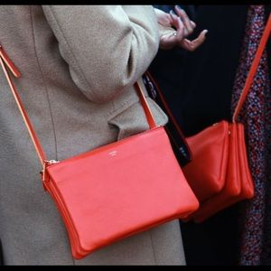 Celine crossbody red trio bag